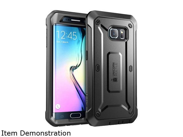 Galaxy S6 Edge Case, SUPCASE Full-body Rugged Holster Case WITHOUT Built-in Screen Protector for Samsung Galaxy S6 Edge (2015 Release), Unicorn Beetle PRO Series - Retail Package (Black/Black)