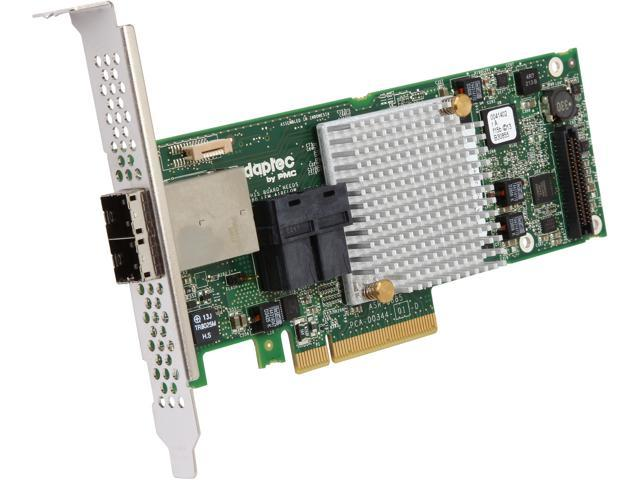 Adaptec RAID 8885 12Gb/s PCIe Gen3 SAS/SATA with 16 (8 internal, 8 external) native ports RAID adapter