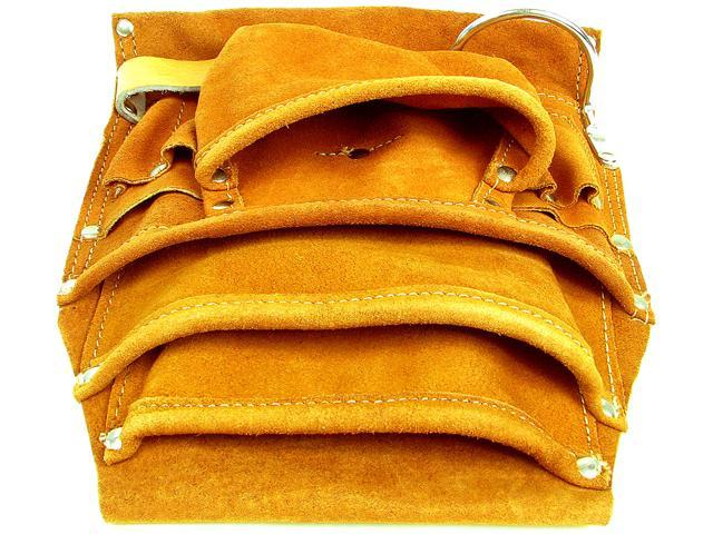 Professional 10 Pocket Genuine Leather Tool Bag Pouch