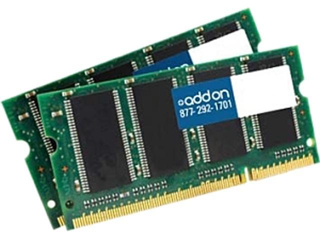 DDR2800SKIT/4G Dell A4849740 Compatible 4GB (2x2GB) DDR2-800MHz Unbuffered Dual Rank 1.8V 200-pin CL5 SODIMM