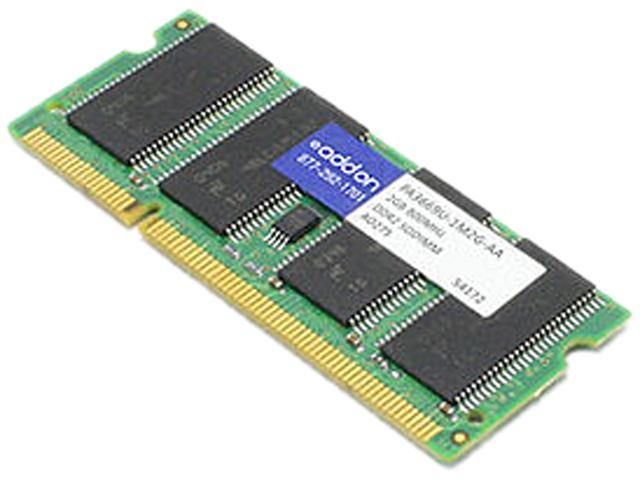AddOn - Memory Upgrades 2GB 200-Pin DDR2 SO-DIMM DDR2 800 (PC2 6400) Unbuffered System Specific Memory Model PA3669U-1M2G-AAK