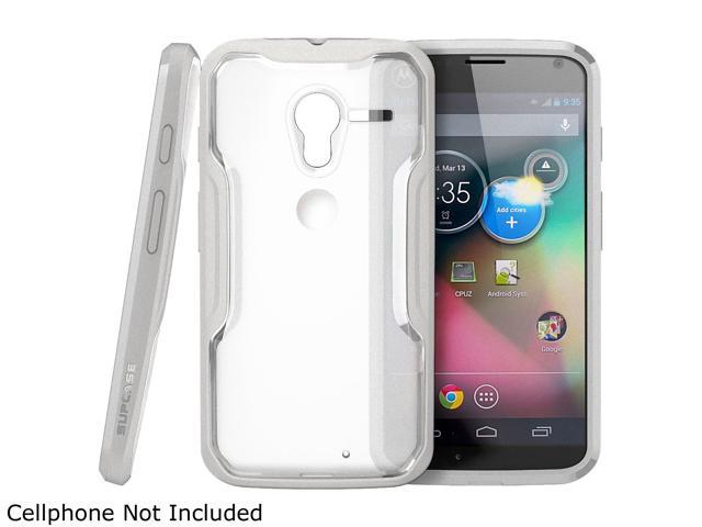 SUPCASE Motorola Moto X Phone Unicorn Beetle Hybrid Case - Clear/Gray, Free HD Clear Screen Protector, Bubble Free Installation Instruction Included