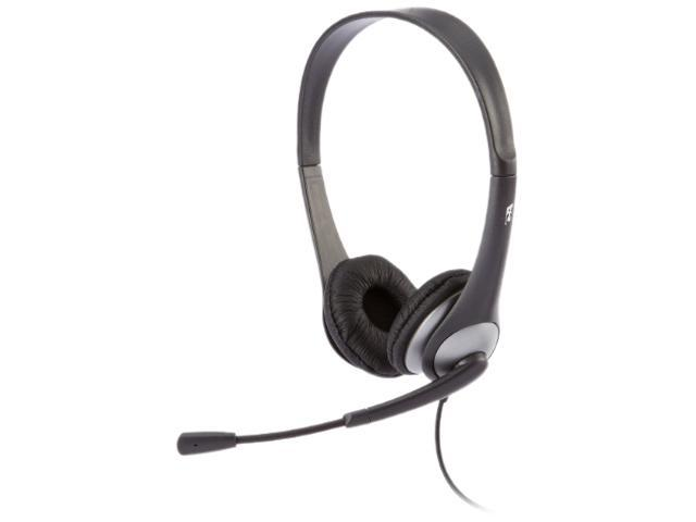 Cyber Acoustics AC-204 3.5mm Connector Supra-aural Stereo Headset with Y-adapter