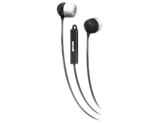 Maxell Black 190300 IEMICBLK Stereo In-Ear Earbuds with Microphone and Remote (Black)