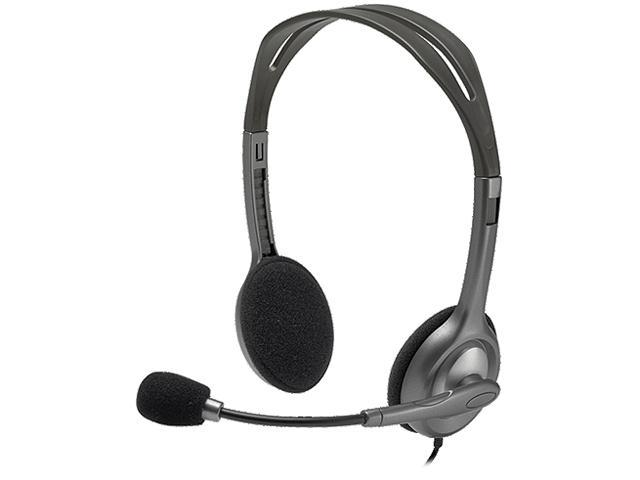Logitech Stereo Headset H111 - Stereo - Mini-phone - Wired - 32 Ohm - 20 Hz - 20 kHz - Over-the-head - Binaural - Supra-aural - 5.91 ft Cable