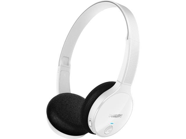 Philips Bluetooth Stereo On-Ear White Headphone SHB4000WT/28 with microphone