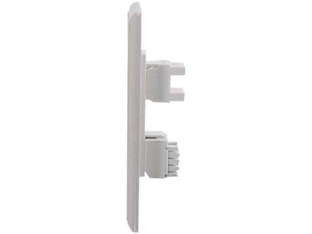 C2G Cat5E RJ45 with Cat3 RJ12 Configured Single Gang Wall Plate - White