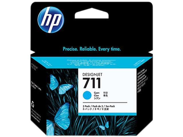 HP 711 Ink Cartridge - Triple Pack - Cyan