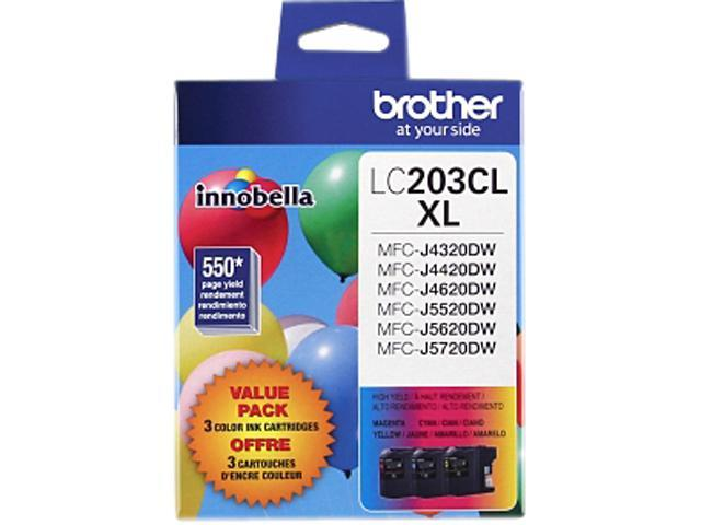 brother LC2033PKS-K Ink Cartridge, 550 Page Yield (each cartridge); Cyan, Magenta, Yellow