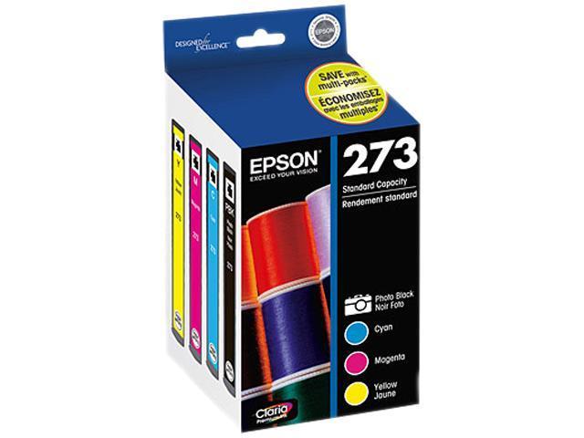 EPSON T273520 Multi-Pack Color Claria Premium Ink Cartridges Multi-Pack (Cyan, Magenta, Yellow, Photo Black)
