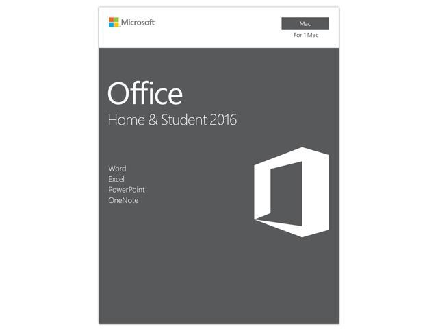 Microsoft Office Mac Home Student 2016 Product Key Card - 1 Mac