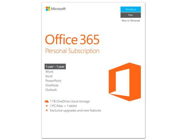Microsoft Office 365 Personal 1 Year Product Key Card Pc