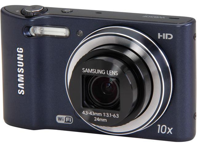 SAMSUNG WB30F Black 16.2 MP 10X Optical Zoom 24mm Wide Angle Digital Camera HDTV Output