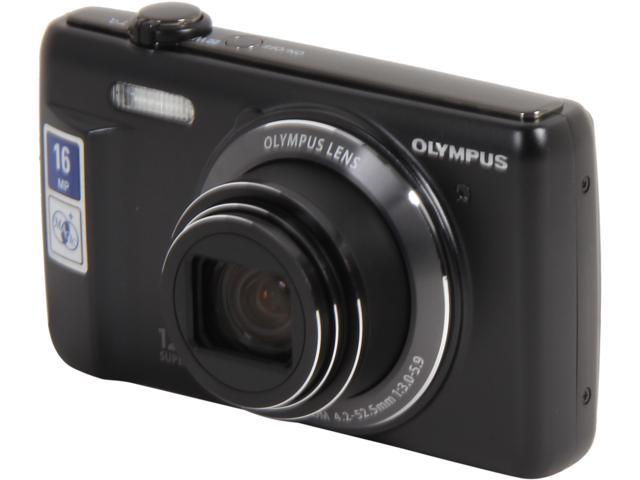 OLYMPUS VR-370 Black 16 Megapixel 12X Optical Zoom 24mm Wide Angle Digital Camera