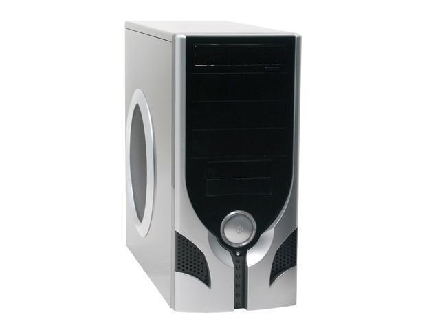 XCLIO 3060BK Black/Silver Computer Case