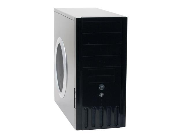 XCLIO 6010BK Fully Black High Gloss Finish Chassis: 0.6 mm SECC ; Aluminum Front Panel ATX Mid Tower Computer Case