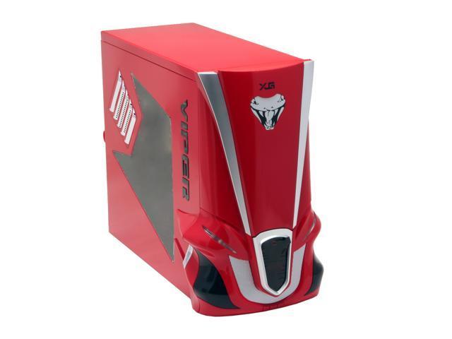 XG Viper CA-V2-WOP-R Red Aluminum ATX Mid Tower Computer Case