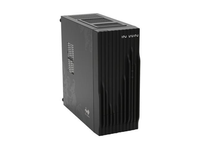 IN WIN wavy Black Mini-ITX Tower Computer Case 120W Power Supply