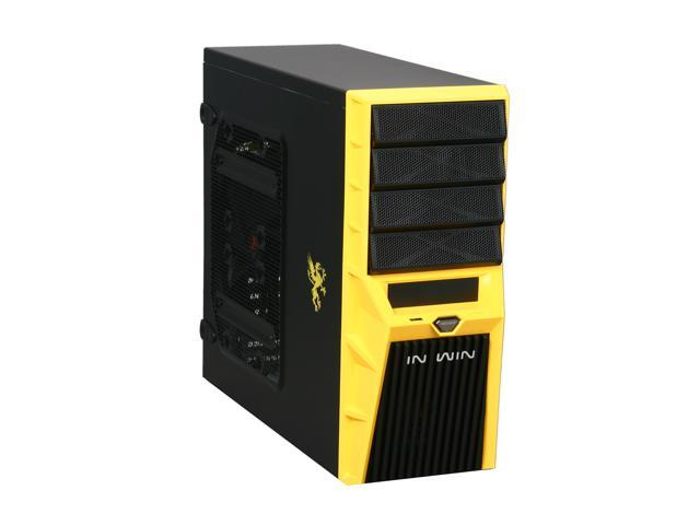 IN WIN Griffin (Yellow) Black / Yellow ATX Mid Tower Computer Case