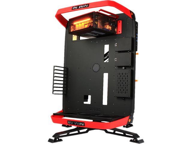 IN WIN X-Frame 2.0 Black / Red Aluminum Open Air Chassis Computer Case SI-1065W (ATX12V and EPS12V - Length up to 245mm) Power Supply