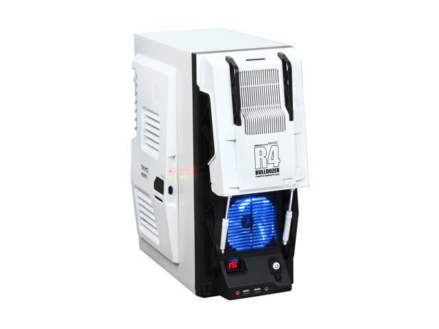 GMC AZT-GMCR4-WH White SECC / ABS ATX Mid Tower Computer Case
