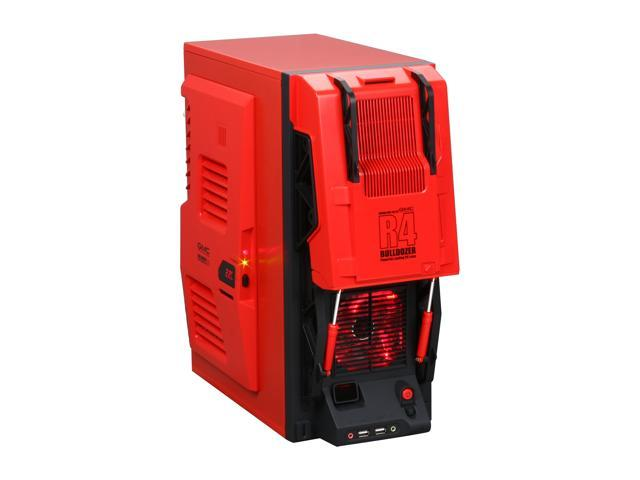 GMC AZT-GMCR4-RE Red SECC / ABS ATX Mid Tower Computer Case