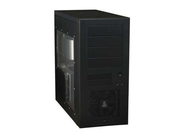 LIAN LI PC-60BPLUSII W Black Aluminum ATX Mid Tower Computer Case