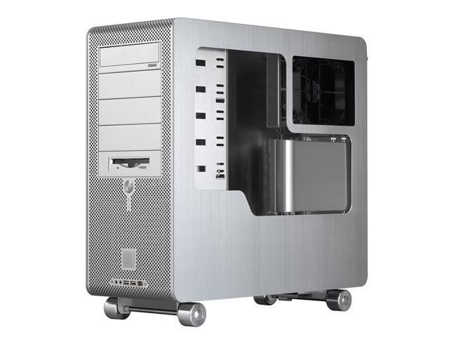 LIAN LI PC-V1000APLUSII W Silver Aluminum ATX Mid Tower Computer Case