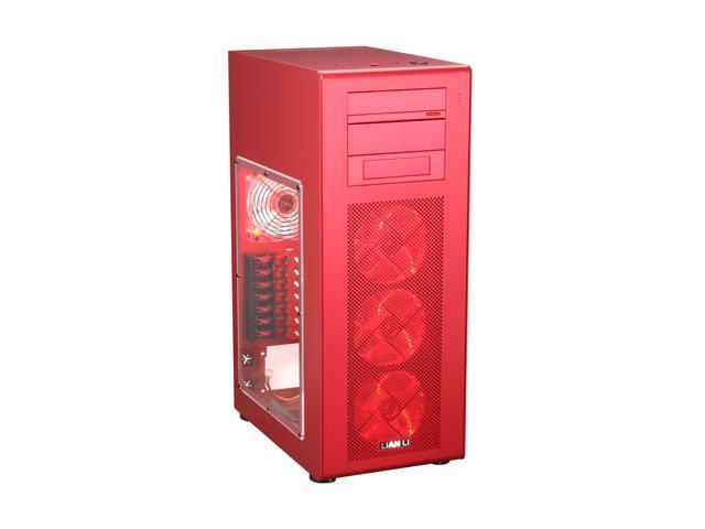 LIAN LI PC-X900R Red Aluminum ATX Mid Tower Computer Case