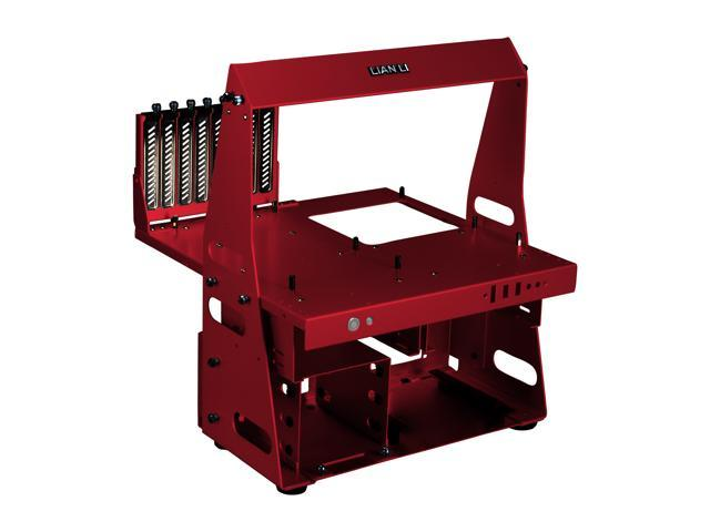 LIAN LI PC-T60R Red Aluminum ATX / Micro-ATX TEST BENCH Computer Case