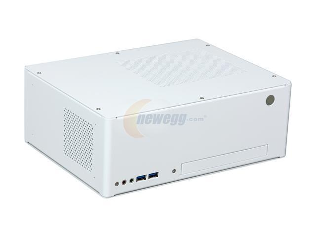 LIAN LI PC-Q09W White Aluminum Mini-ITX Desktop Computer Case Come With a 110W Power Adapter 110W adapter Power Supply
