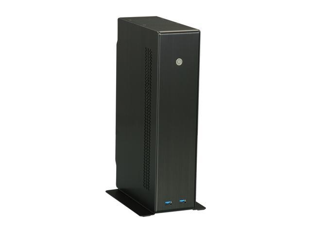 LIAN LI Black Aluminum PC-Q12B Mini ITX Media Center / HTPC Case