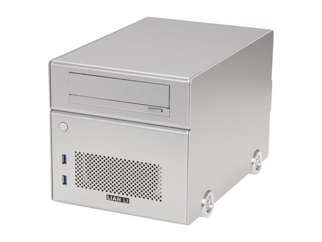 LIAN LI Silver Aluminum PC-Q15A Mini ITX Media Center / HTPC Case