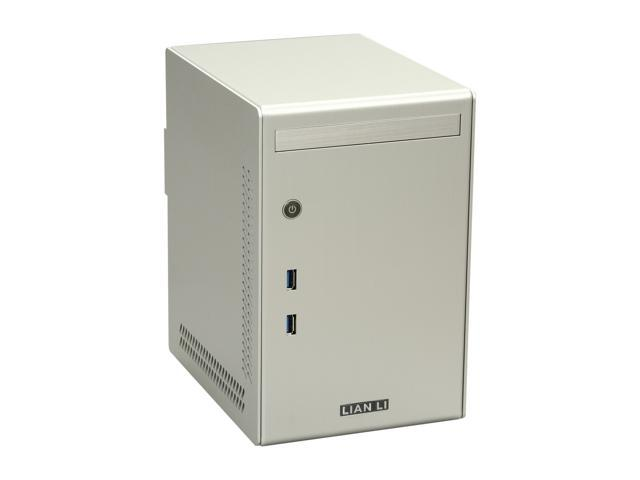 LIAN LI PC-Q02A Silver Aluminum Mini-ITX Tower Computer Case 300W 80-PLUS Power Supply