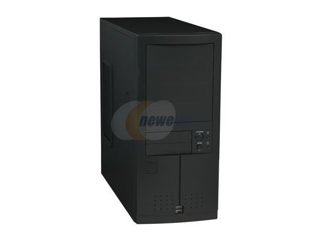 Enlight 7250AKG Black 0.8mm Steel ATX Mid Tower Computer Case 650W Power Supply