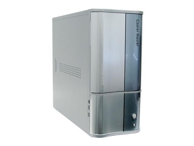 COOLER MASTER CAV-T03-UWA Silver/Blue Aluminum / Steel ATX Mid Tower Computer Case 350W Power Supply