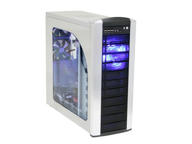 COOLER MASTER Stacker 810 RC-810-SKA1-GP Silver/ Black Aluminum Bezel, SECC Chassis ATX Full Tower Computer Case RS-850-EMBA 850W Power Supply