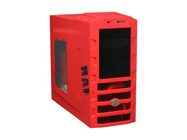 COOLER MASTER HAF 922 Red RC-922M-RWN2-GP Red Steel ATX Mid Tower Computer Case