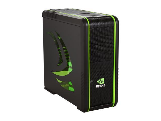 COOLER MASTER CM 690 II Advanced nVidia Edition NV-692A-KWN2 Black / Green Steel / Plastic ATX Mid Tower Computer Case