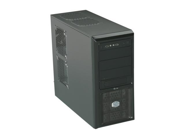 COOLER MASTER Elite 370 RC-370-KKR400 Black Steel / Plastic ATX Mid Tower Computer Case 400W Power Supply