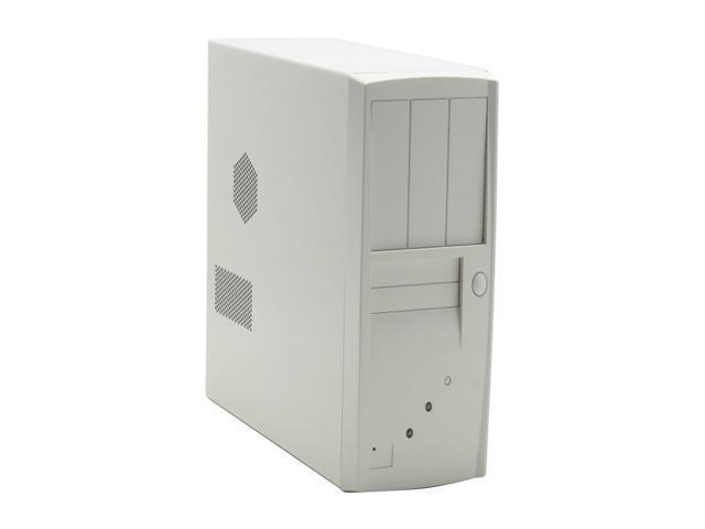 HEC 7106WW Beige White Steel ATX Desktop Computer Case