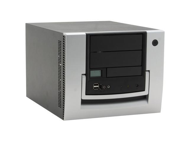 CHENMING 118-AL-BLK-0-300PSU Black/ Silver Aluminum MicroATX Desktop Computer Case 300W Power Supply