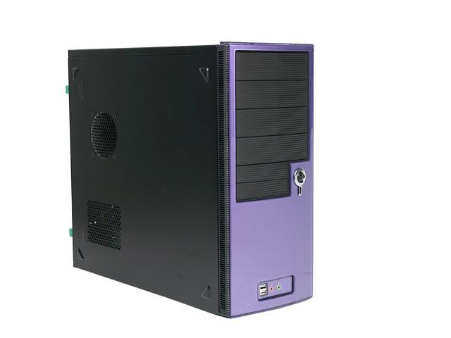Ever Case GC4292P-M35 Purple/Black Steel ATX Mid Tower Computer Case 350W Power Supply