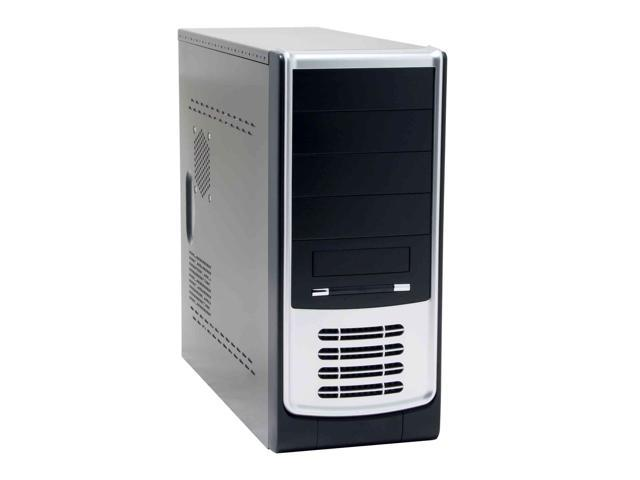 ARK PA04 Black/ Silver Steel ATX Mid Tower Computer Case 420W Power Supply