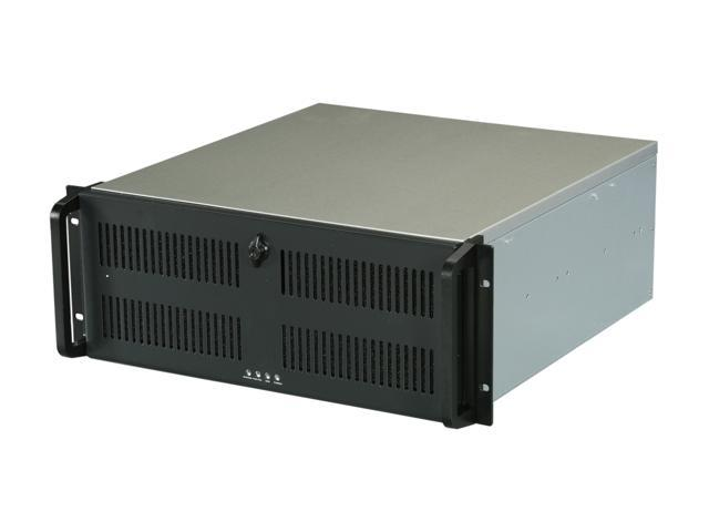 ARK 4U-500-S Black front panel/ Silver body 1.2mm SECC Zinc-Coated Steel (Chassis) Aluminum Alloy (Handle) 4U Rackmount Server Case