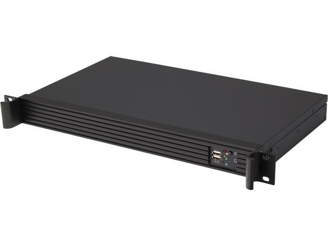 ARK 1U125 Black Aluminum / Steel 1U Rackmount Server Case w/o Power Supply