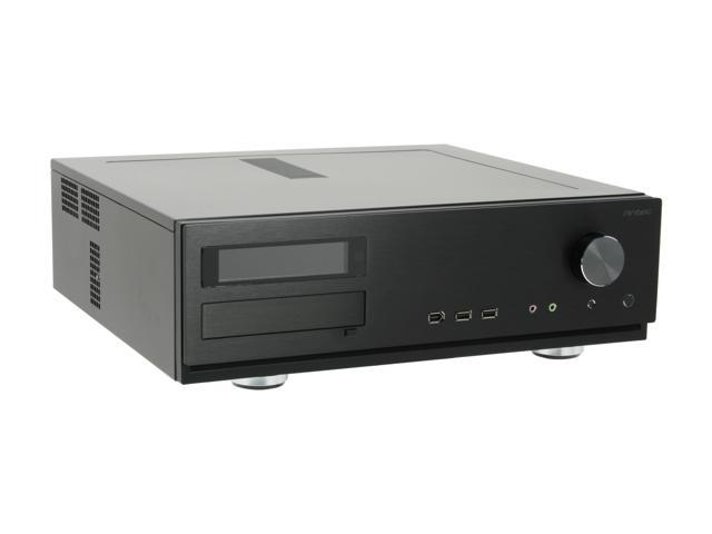 Antec Aluminum Veris Fusion Black 430 Micro ATX Media Center / HTPC Case with IR receiver