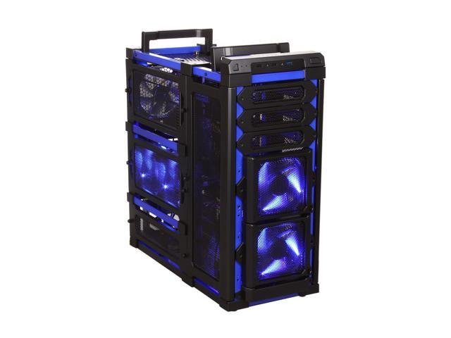 Antec Lanboy air Blue Black / Blue ATX Mid Tower Computer Modular Case