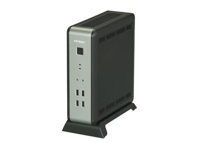 Antec ISK 110 VESA Black ABS plastic / 0.8 mm SECC Mini-ITX Desktop Computer Case 90W External Adapter, Up to 92% Efficiency Power Supply