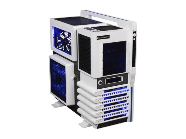 Thermaltake Level 10 GT Snow Edition (VN10006W2N) White and Black SECC / Plastic ATX Full Tower Computer Case with Four Fans - 1 x 200mm side, 1 x 200mm top, 1 x 200mm front, 1 x 140mm rear
